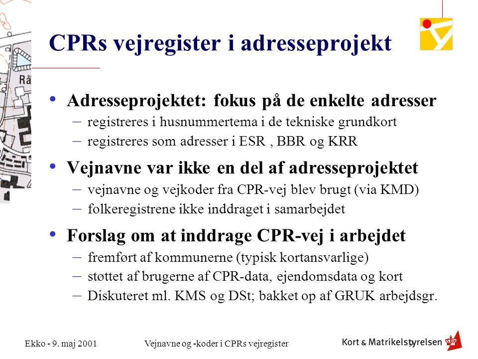 CPRs vejregister i adresseprojekt