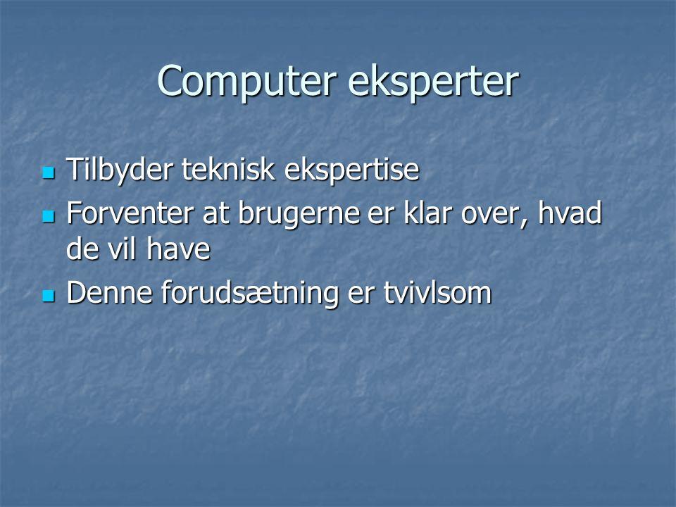 Computer eksperter Tilbyder teknisk ekspertise
