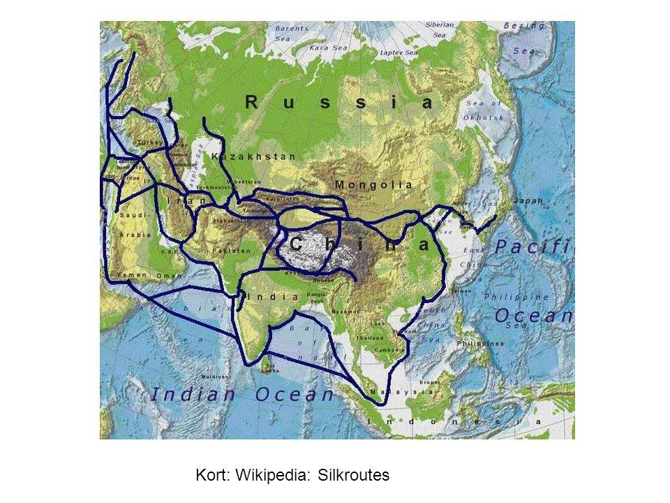 Kort: Wikipedia: Silkroutes