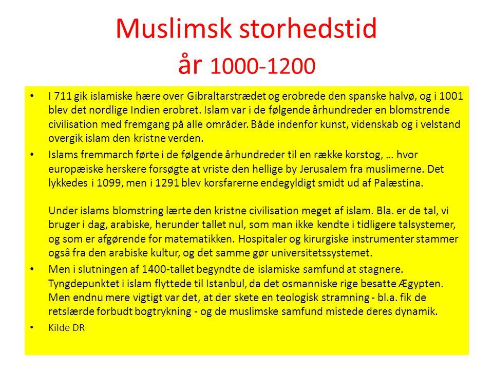 Muslimsk storhedstid år 1000-1200