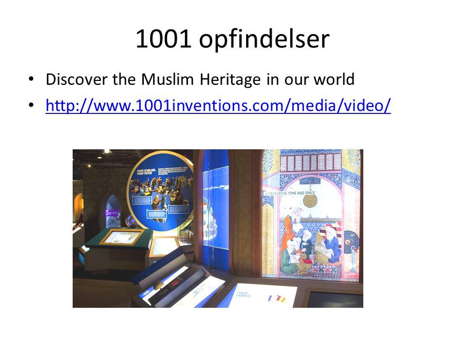1001 opfindelser Discover the Muslim Heritage in our world