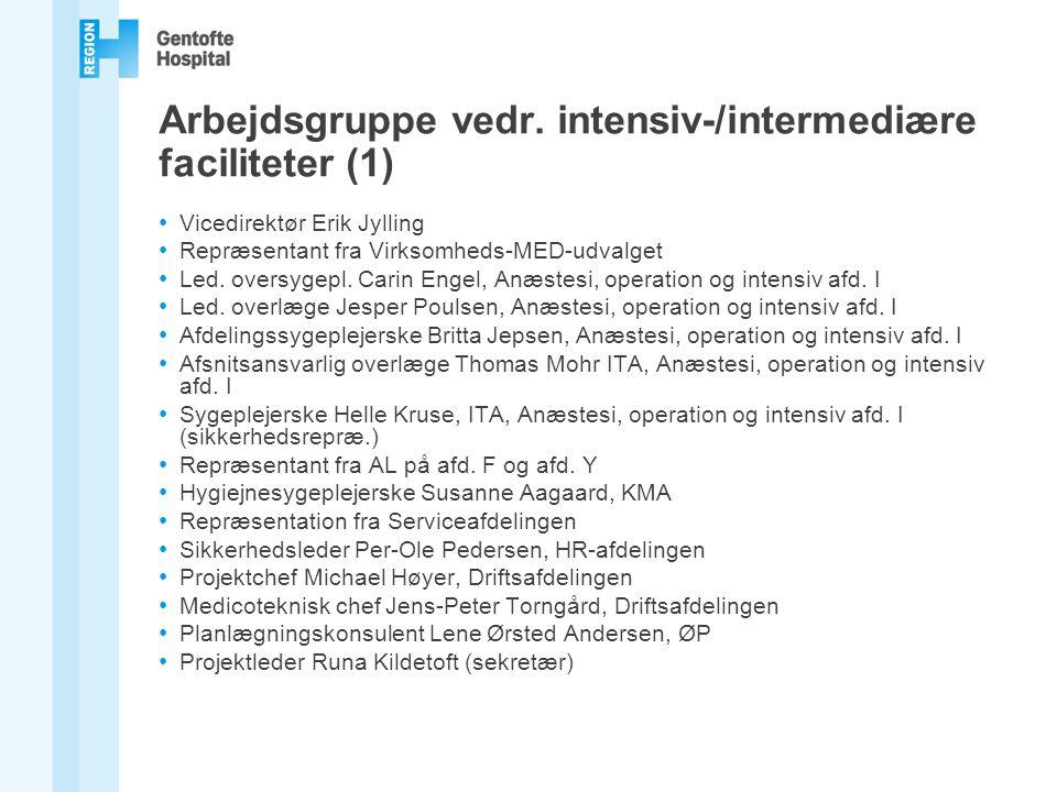 Arbejdsgruppe vedr. intensiv-/intermediære faciliteter (1)