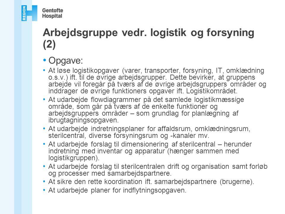Arbejdsgruppe vedr. logistik og forsyning (2)