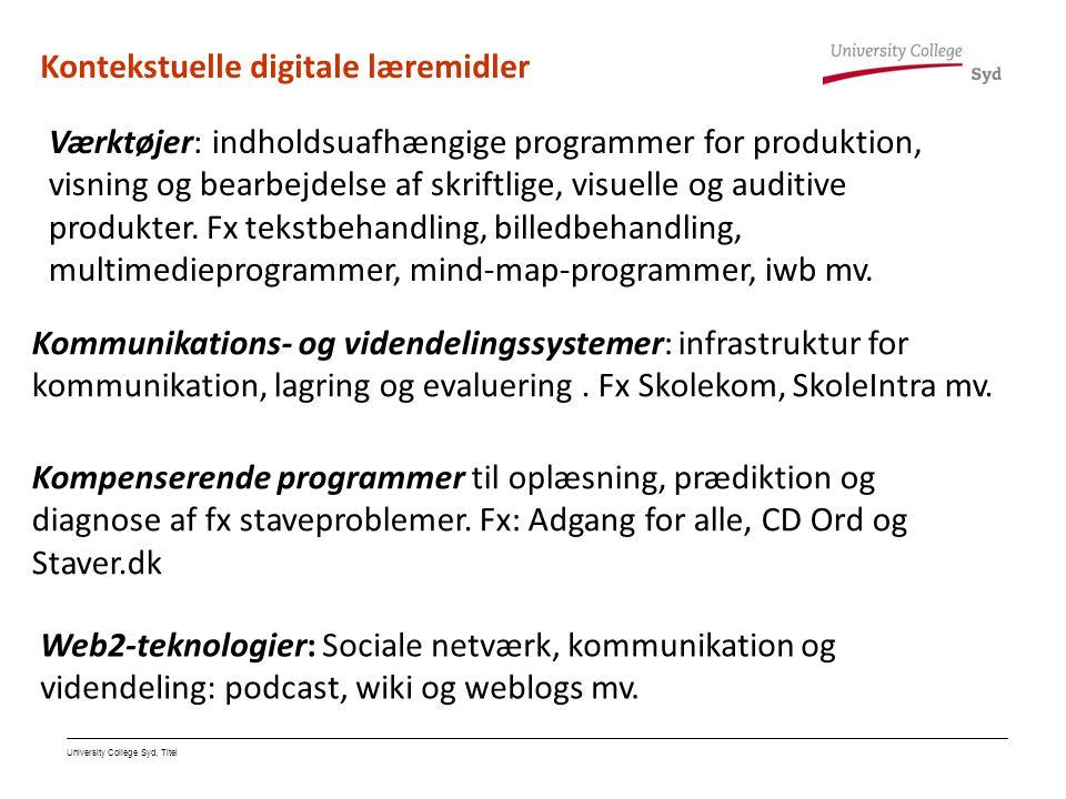 Kontekstuelle digitale læremidler
