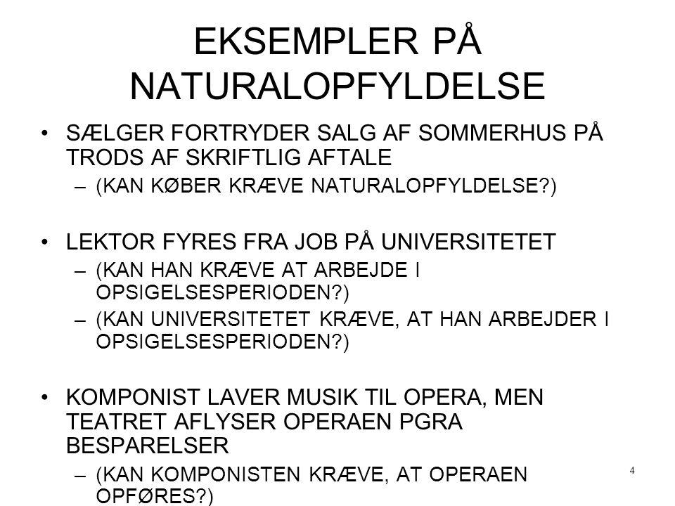 EKSEMPLER PÅ NATURALOPFYLDELSE