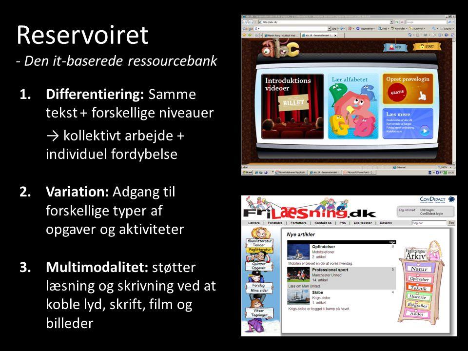 Reservoiret - Den it-baserede ressourcebank