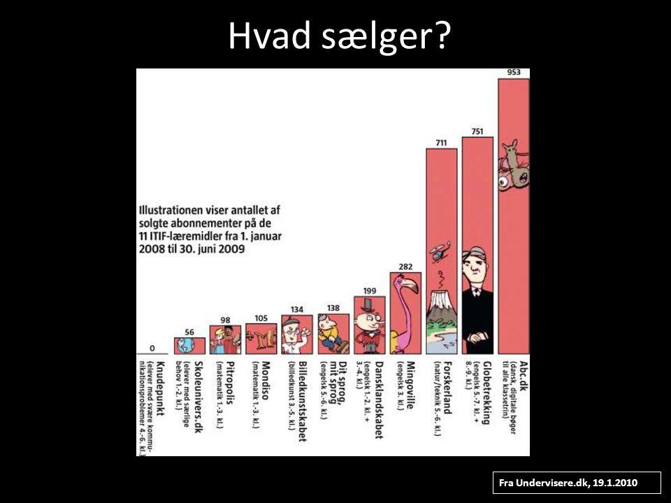 Hvad sælger Fra Undervisere.dk, 19.1.2010