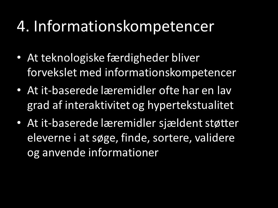 4. Informationskompetencer