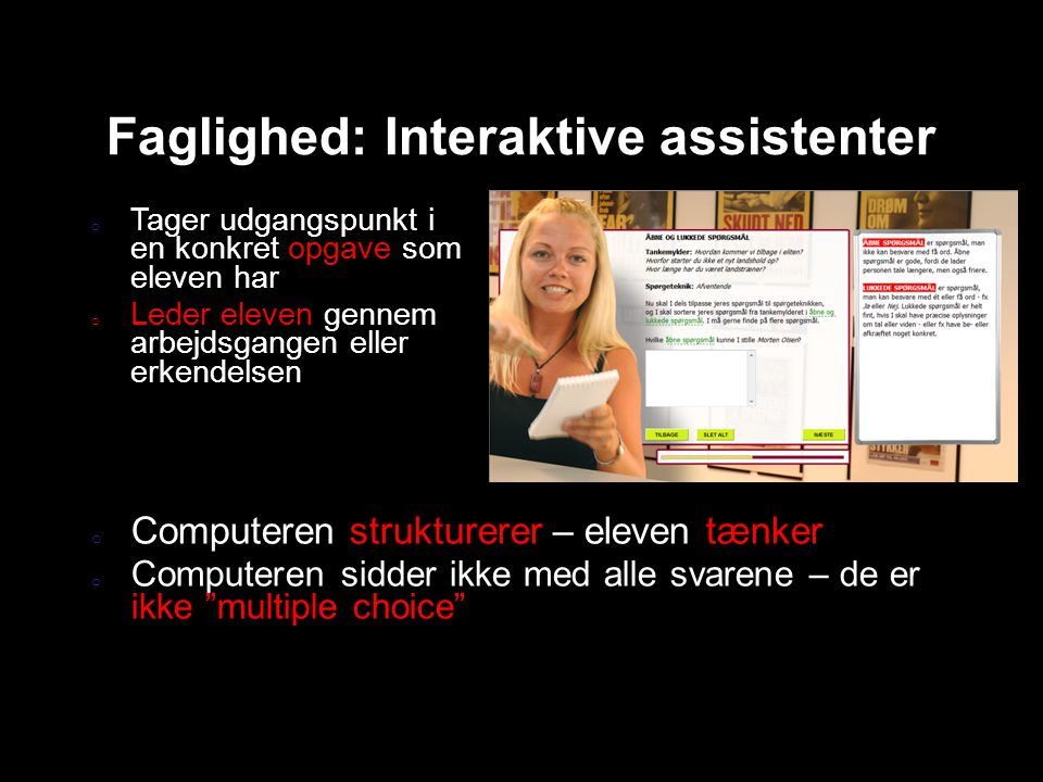 Faglighed: Interaktive assistenter