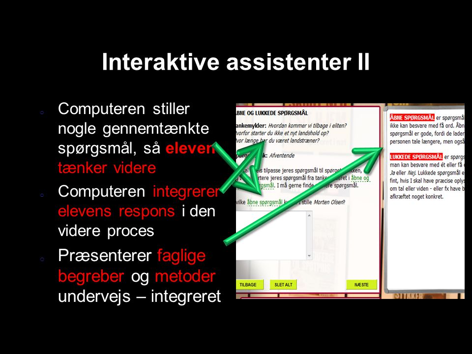 Interaktive assistenter II
