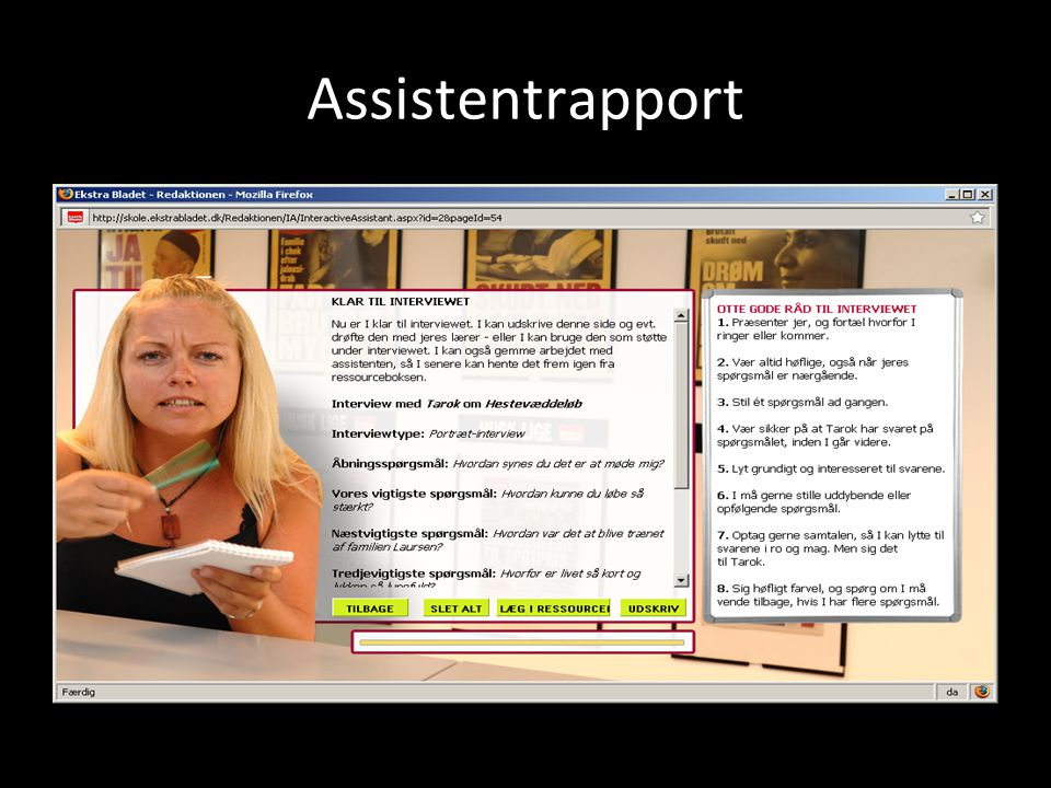 Assistentrapport