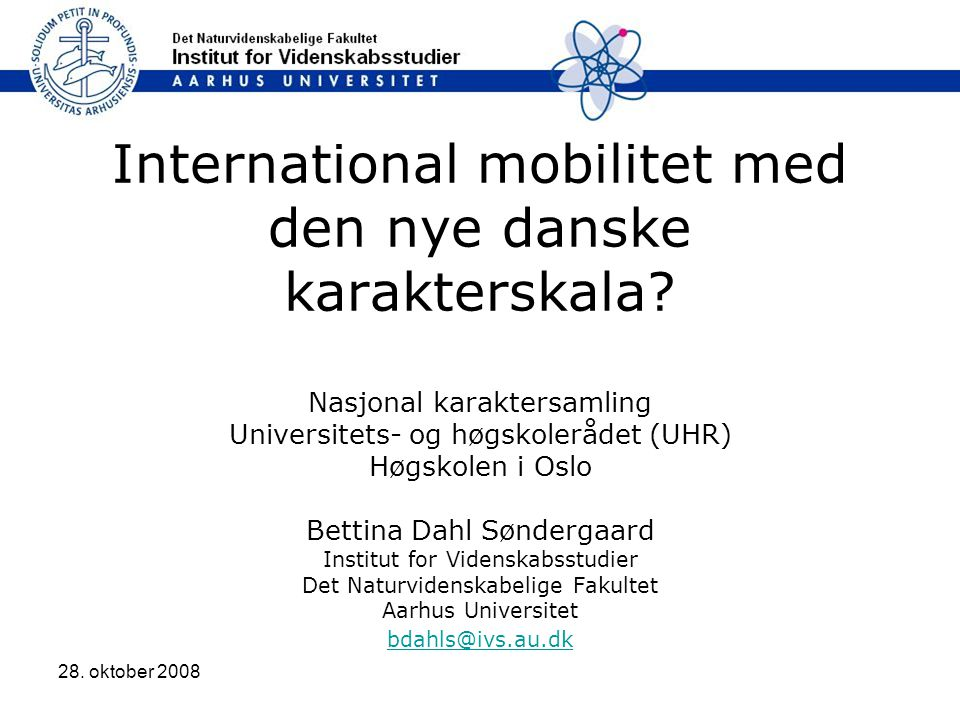 International mobilitet med den nye danske karakterskala