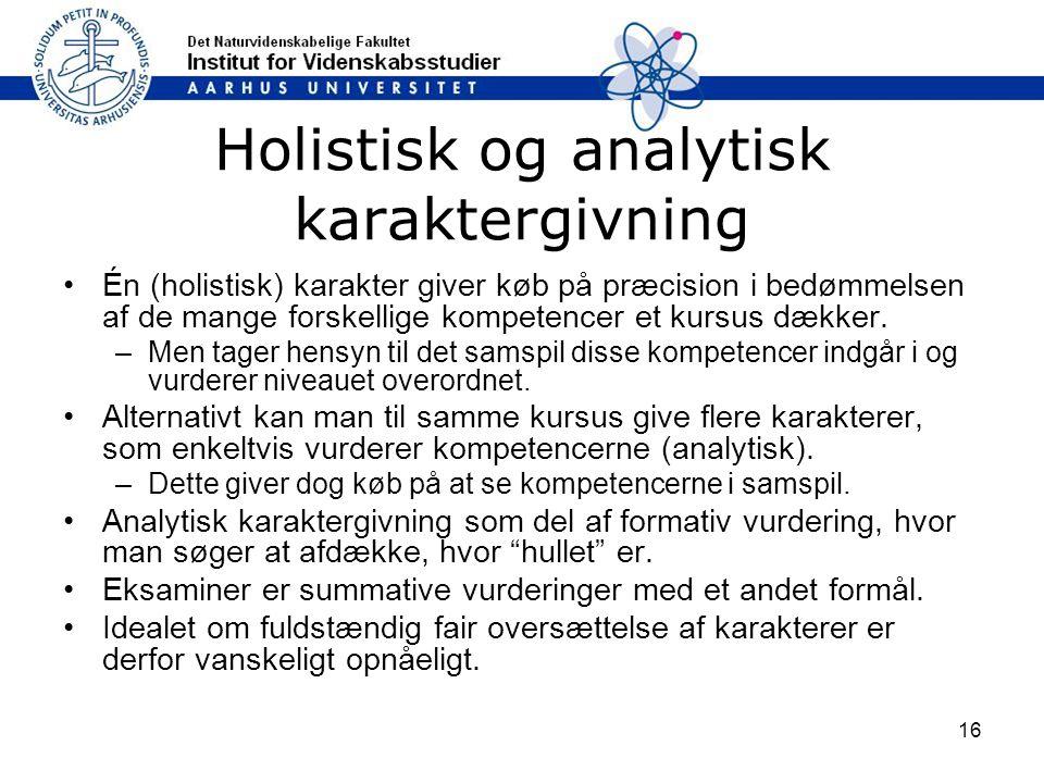 Holistisk og analytisk karaktergivning