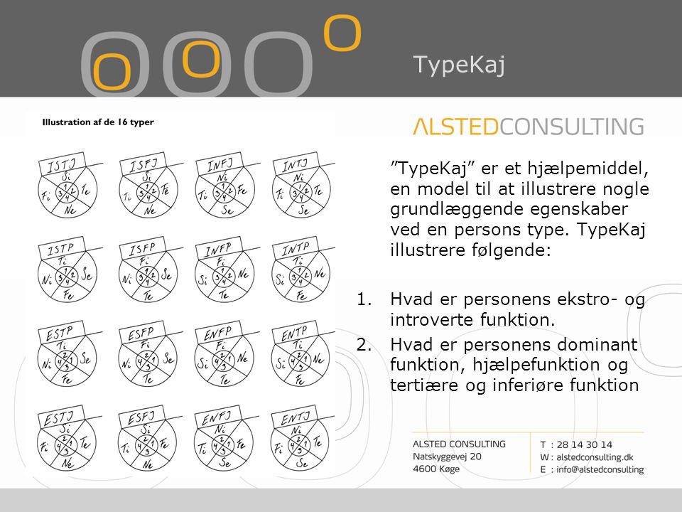 TypeKaj TypeKaj er et hjælpemiddel, en model til at illustrere nogle grundlæggende egenskaber ved en persons type. TypeKaj illustrere følgende: