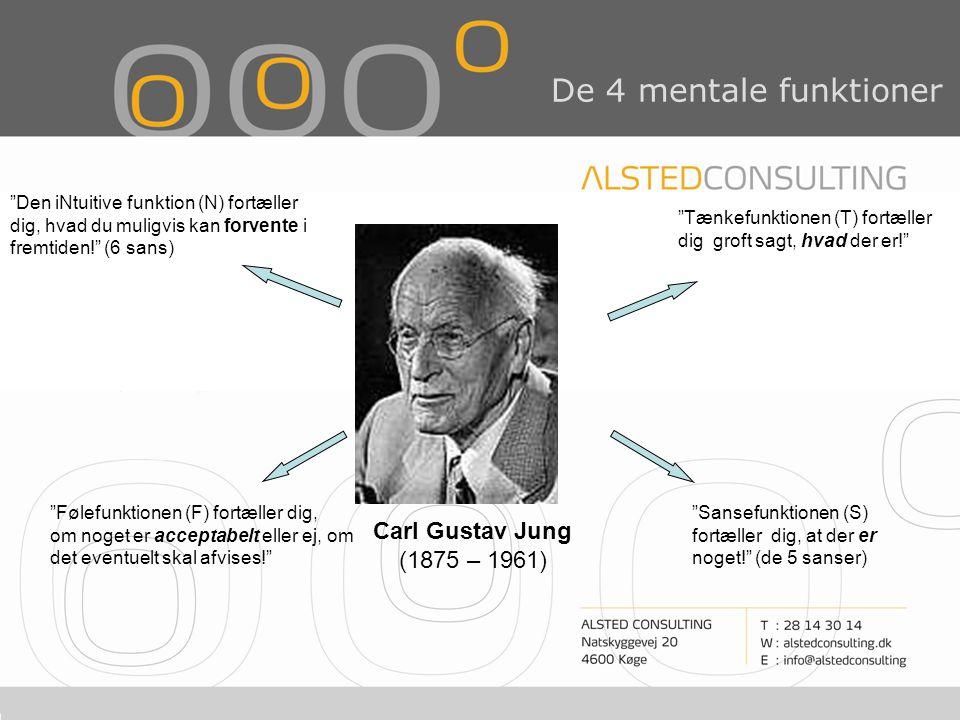 De 4 mentale funktioner Carl Gustav Jung (1875 – 1961)