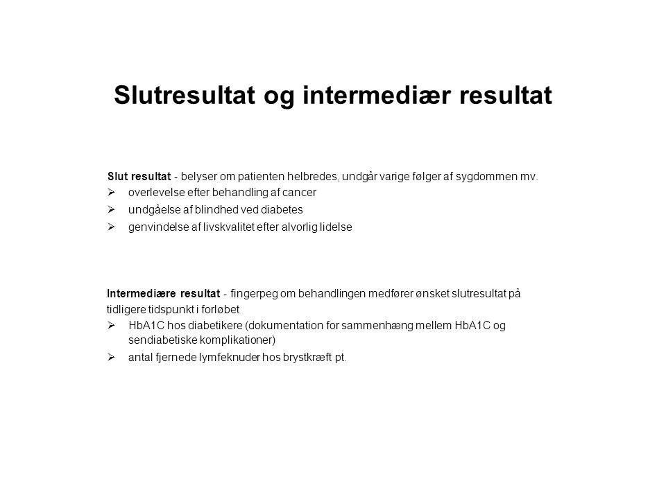 Slutresultat og intermediær resultat
