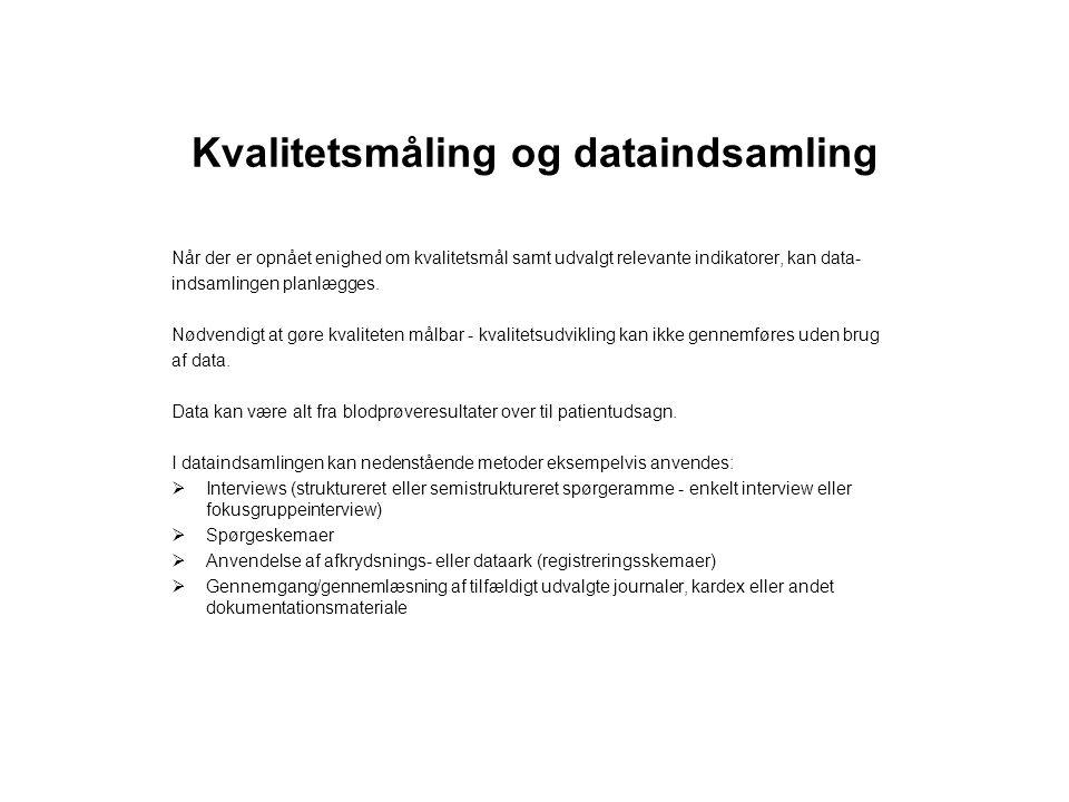 Kvalitetsmåling og dataindsamling