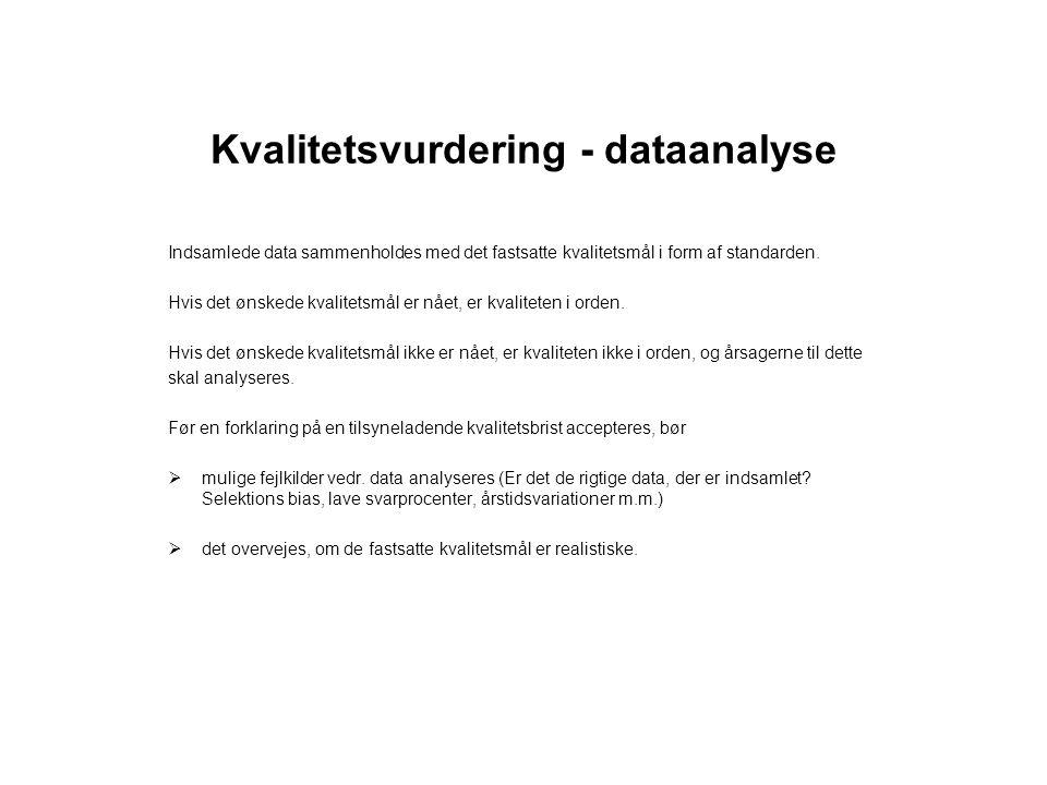 Kvalitetsvurdering - dataanalyse