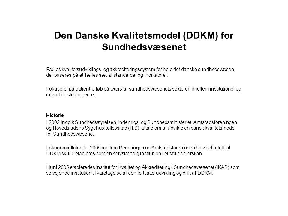 Den Danske Kvalitetsmodel (DDKM) for Sundhedsvæsenet