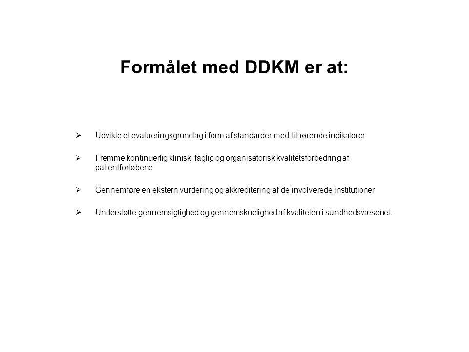 Formålet med DDKM er at: