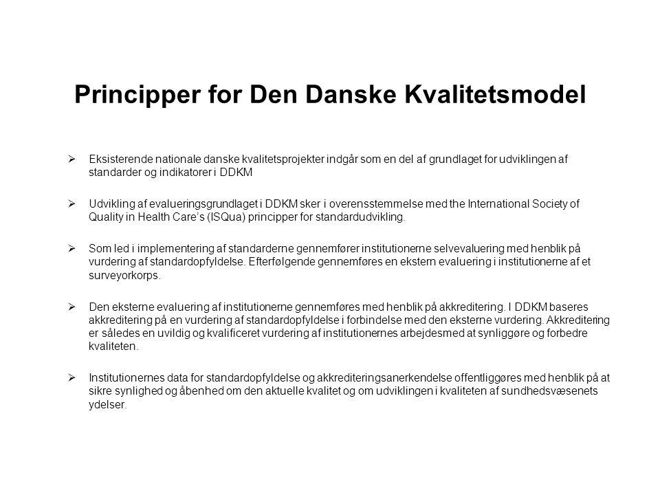 Principper for Den Danske Kvalitetsmodel