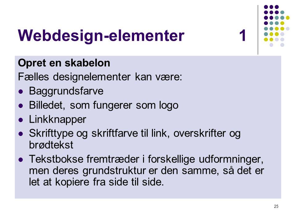 Webdesign-elementer 1 Opret en skabelon