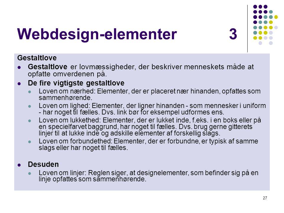 Webdesign-elementer 3 Gestaltlove