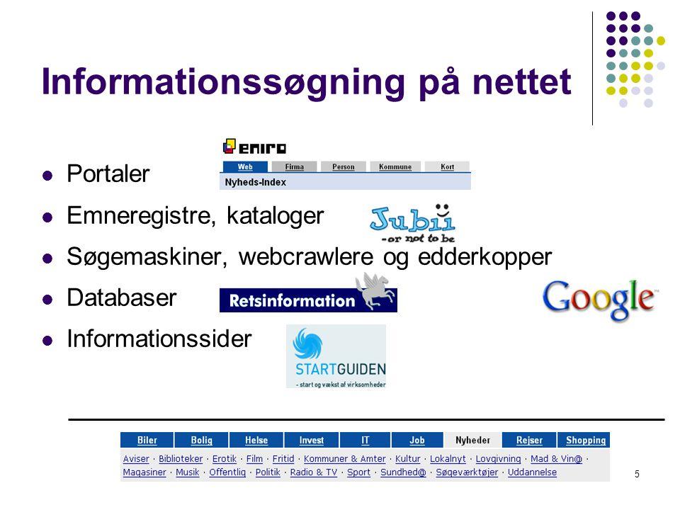 Informationssøgning på nettet