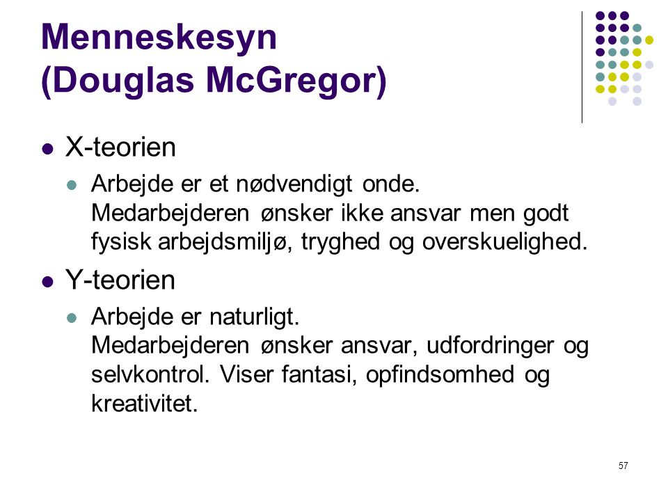 Menneskesyn (Douglas McGregor)