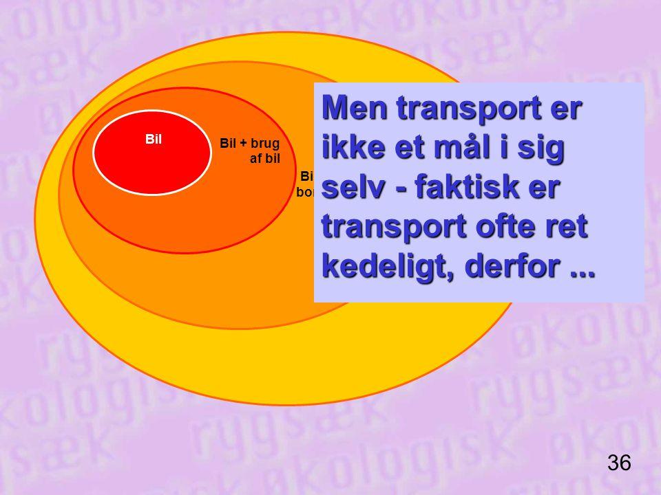 Men transport er ikke et mål i sig selv - faktisk er transport ofte ret kedeligt, derfor ...