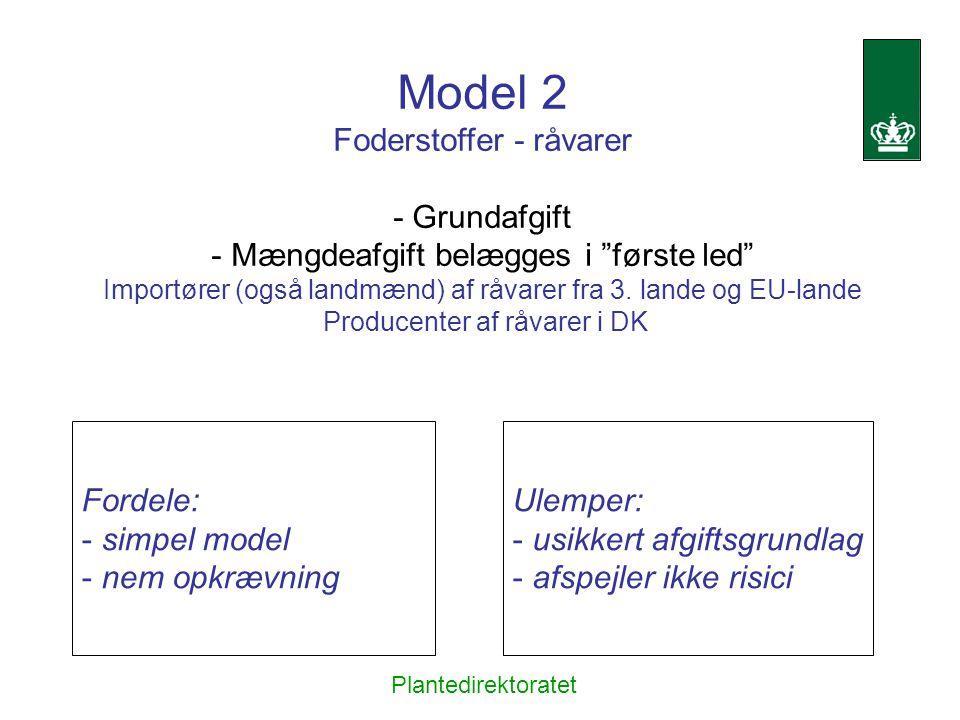 Model 2 Foderstoffer - råvarer - Grundafgift