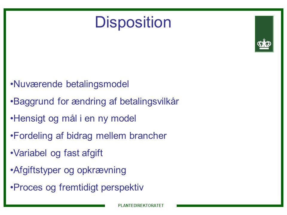 Disposition Nuværende betalingsmodel