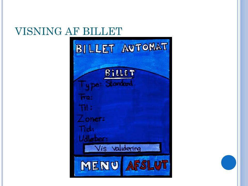 VISNING AF BILLET