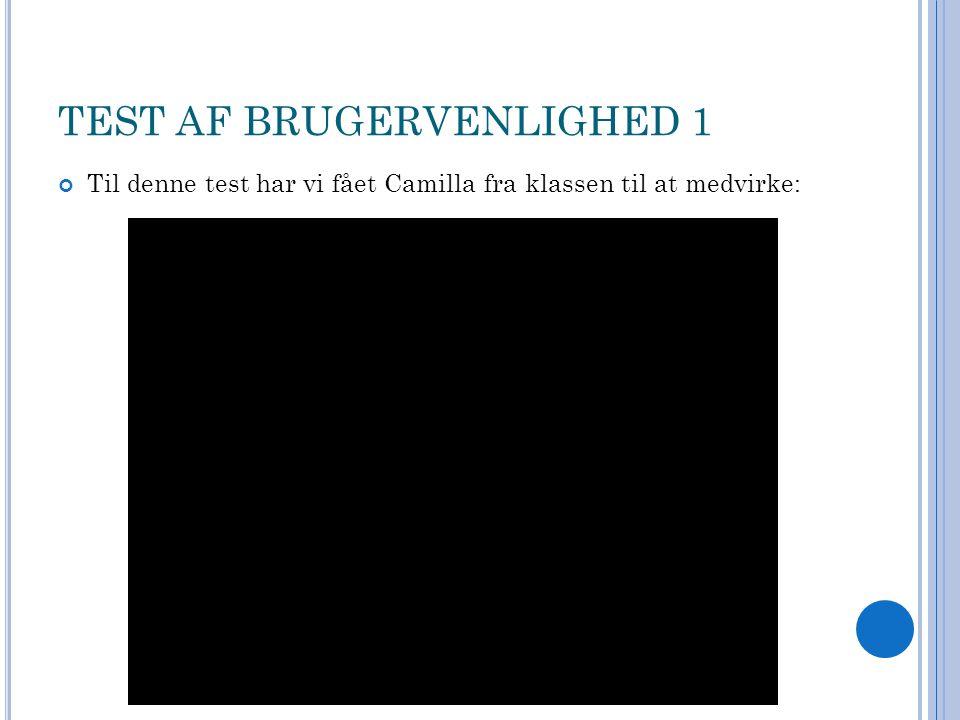 TEST AF BRUGERVENLIGHED 1