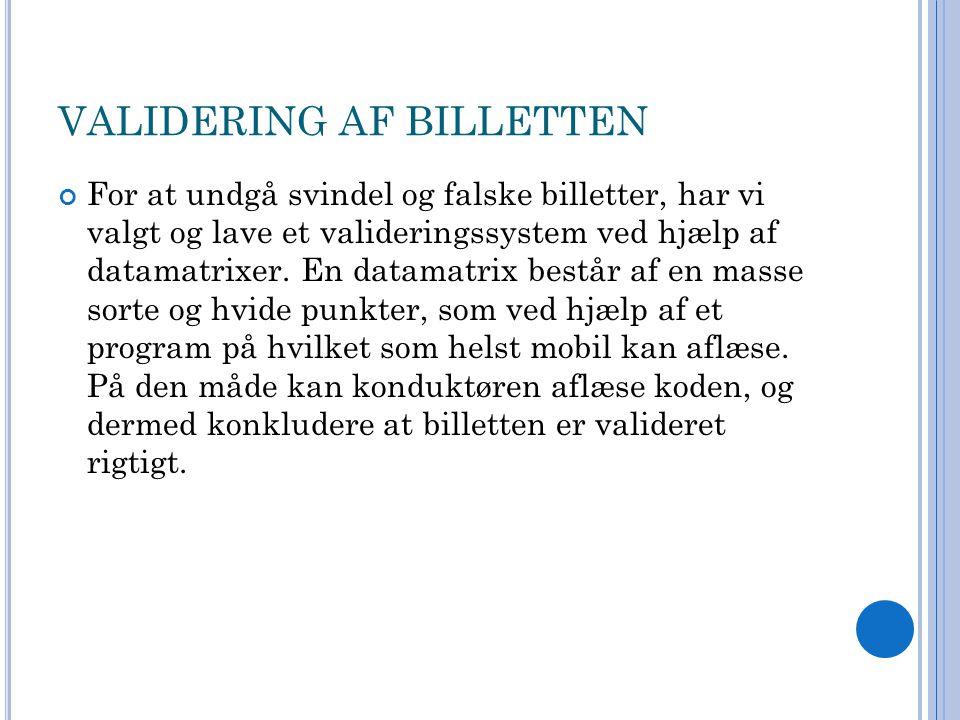 VALIDERING AF BILLETTEN