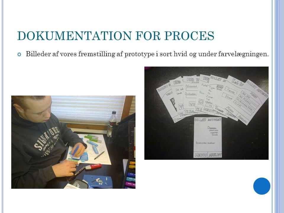 DOKUMENTATION FOR PROCES