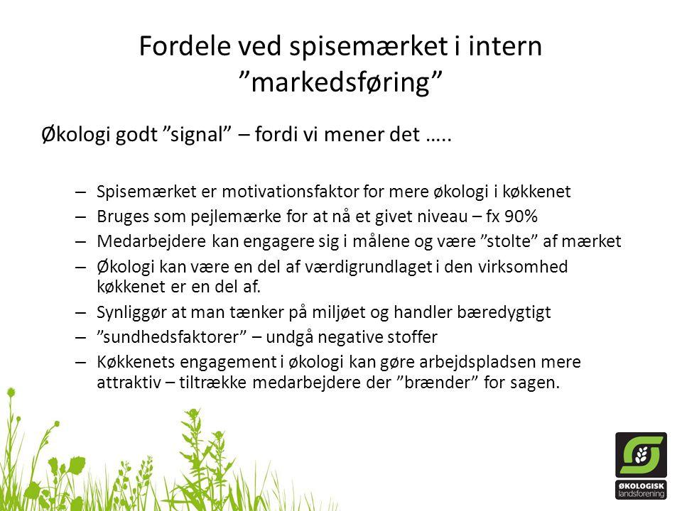 Fordele ved spisemærket i intern markedsføring