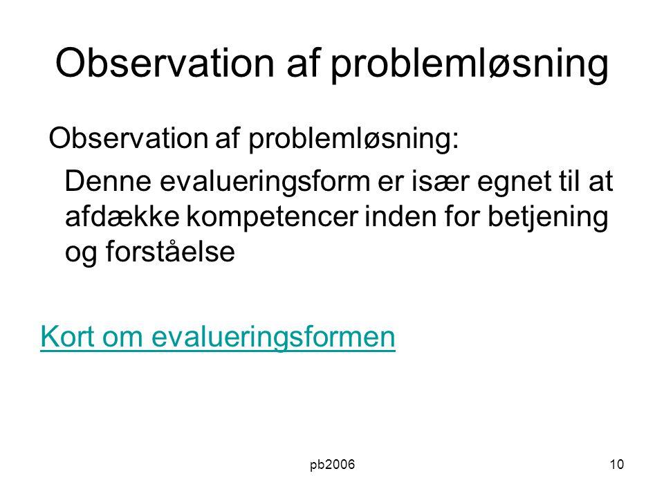 Observation af problemløsning