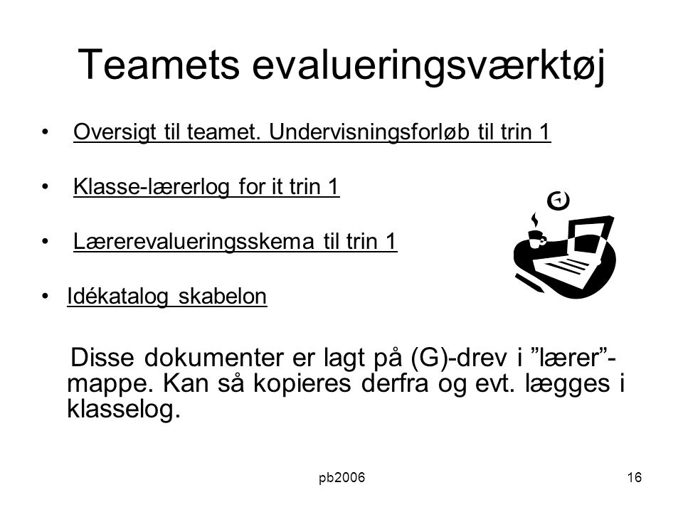 Teamets evalueringsværktøj