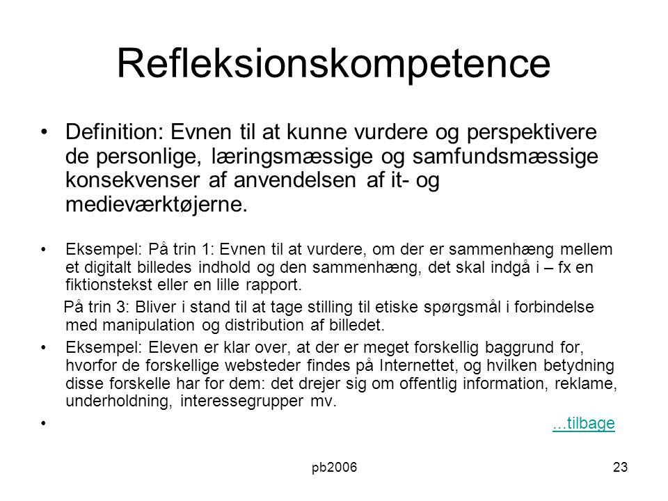 Refleksionskompetence