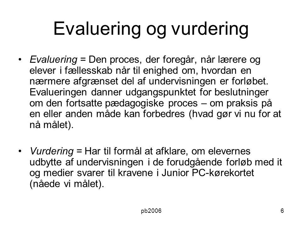 Evaluering og vurdering