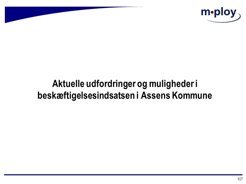 Aktuelle udfordringer og muligheder i beskæftigelsesindsatsen i Assens Kommune