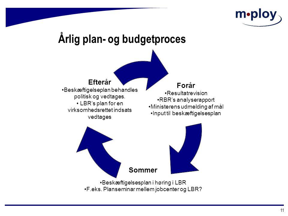 Årlig plan- og budgetproces