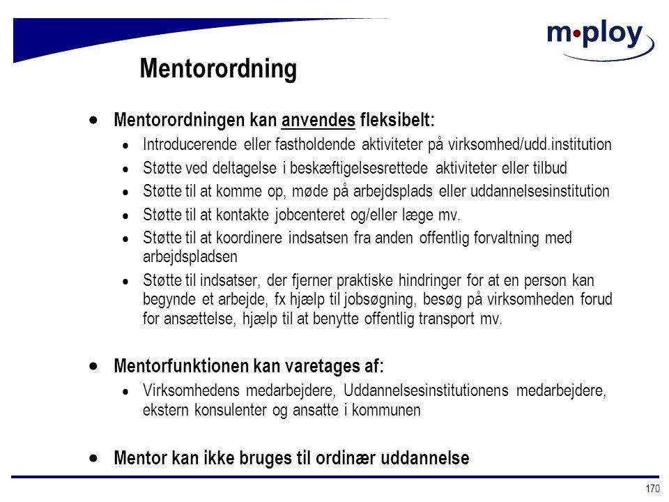 Mentorordning Mentorordningen kan anvendes fleksibelt: