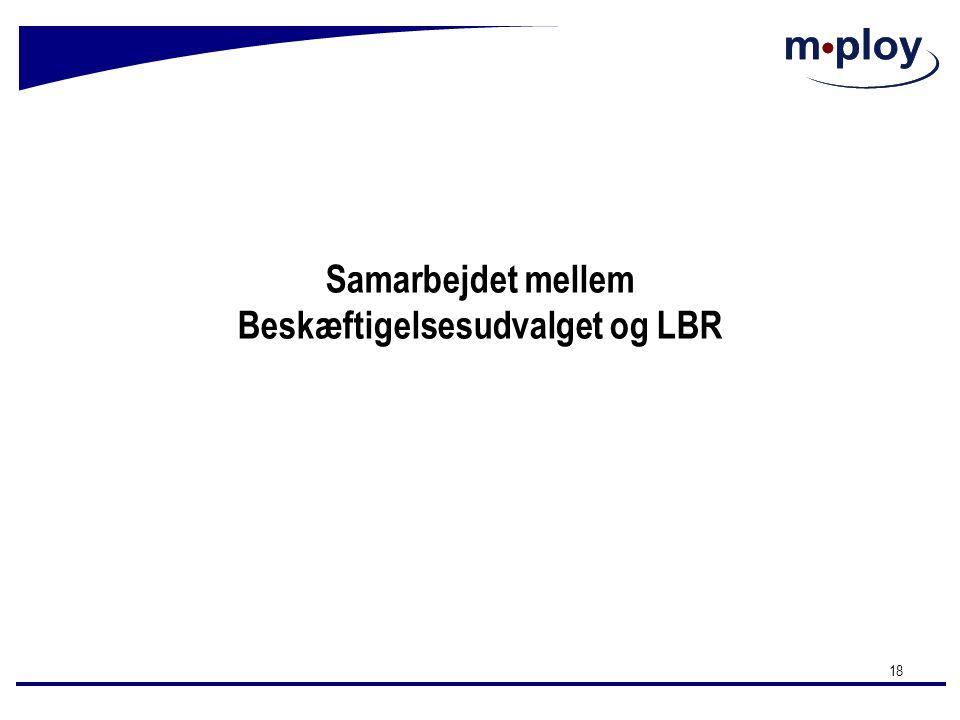 Samarbejdet mellem Beskæftigelsesudvalget og LBR
