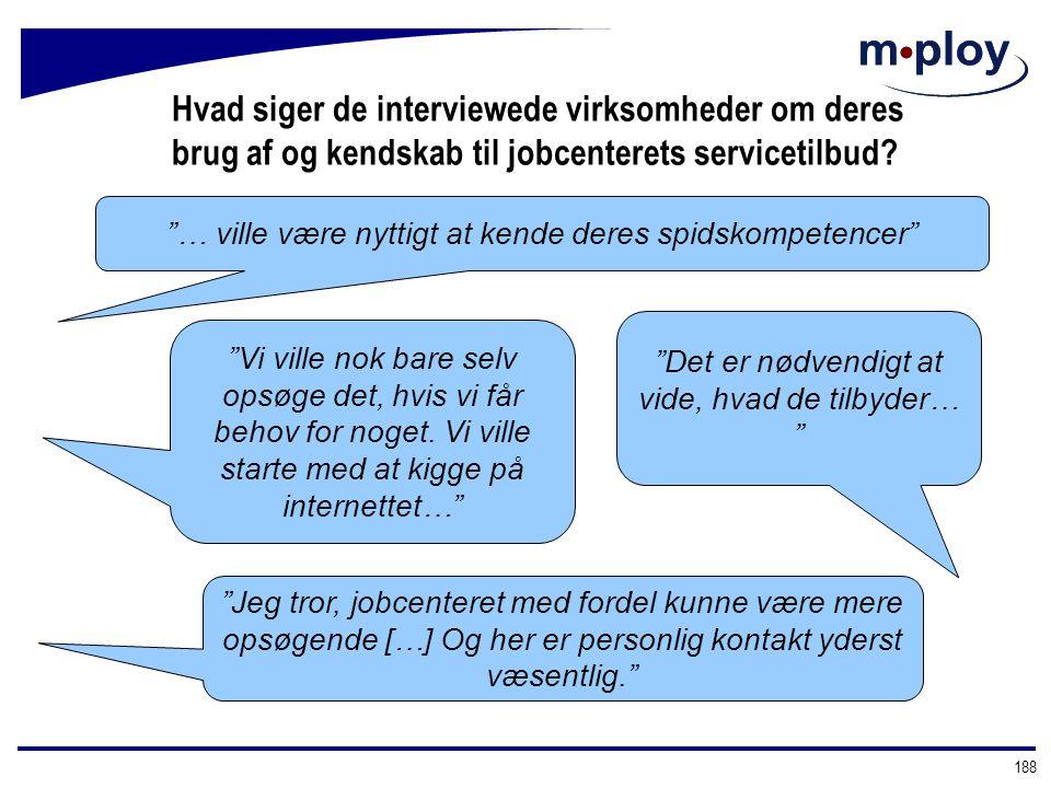 Hvad siger de interviewede virksomheder om deres brug af og kendskab til jobcenterets servicetilbud