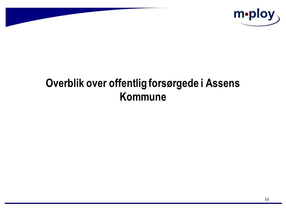 Overblik over offentlig forsørgede i Assens Kommune