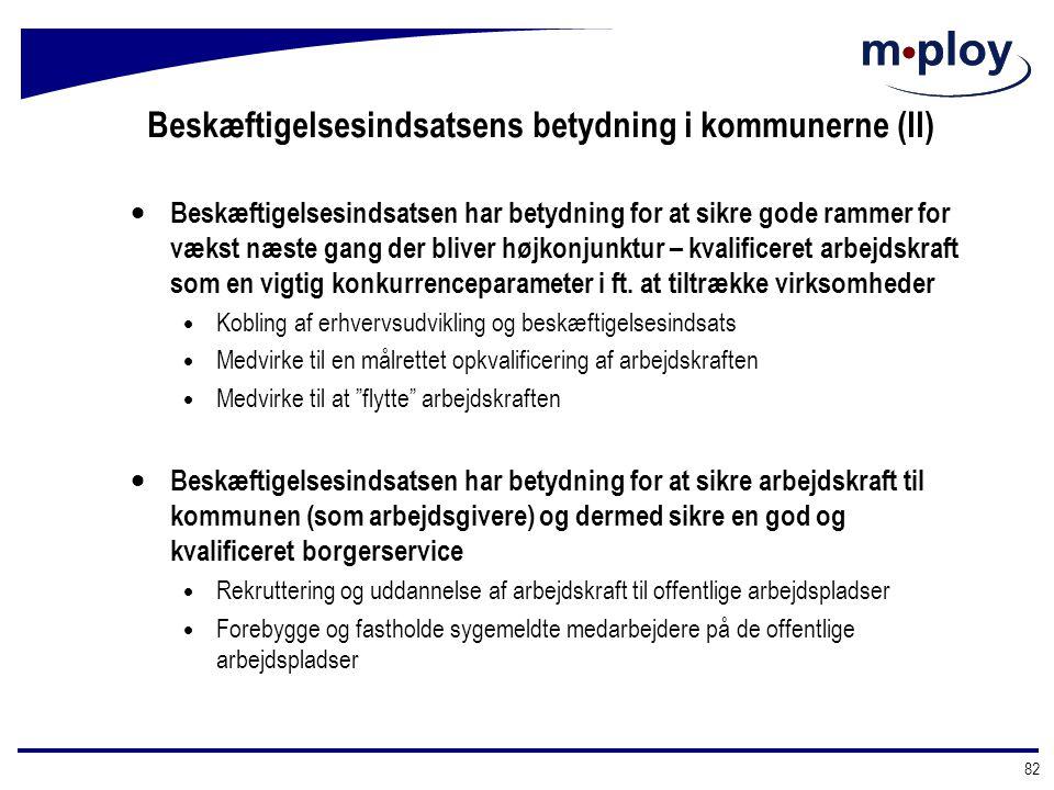 Beskæftigelsesindsatsens betydning i kommunerne (II)