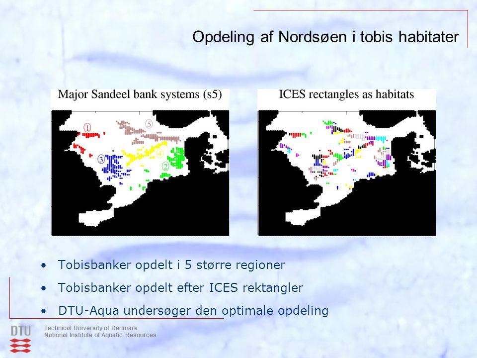 Opdeling af Nordsøen i tobis habitater