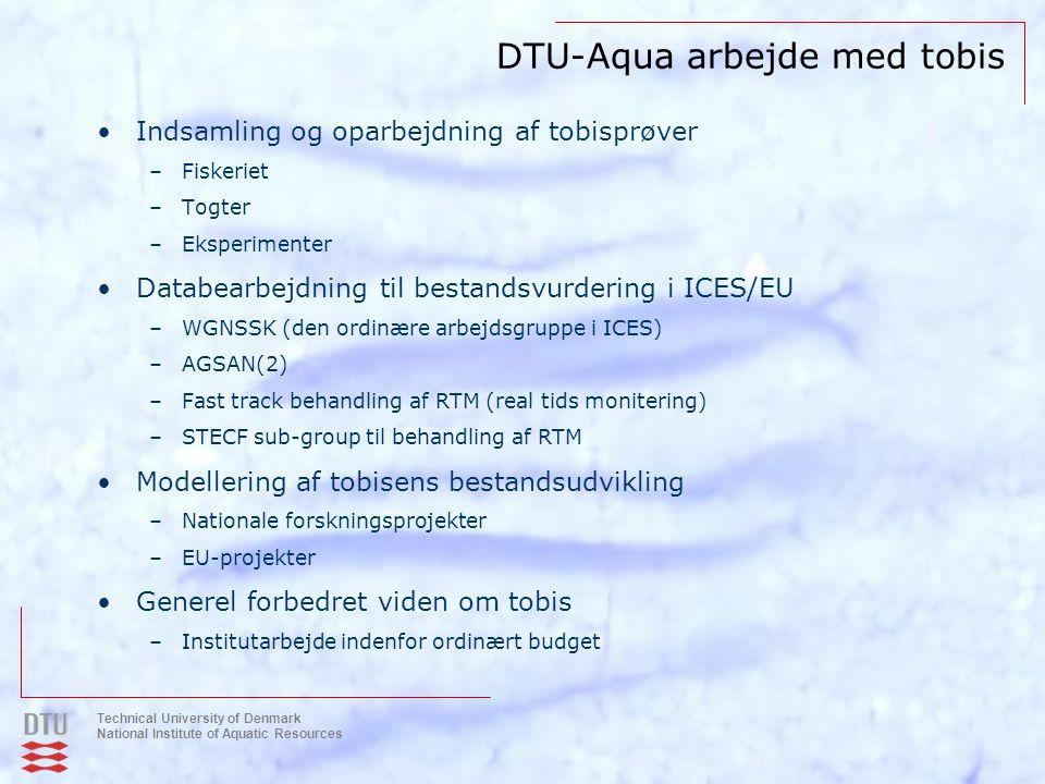 DTU-Aqua arbejde med tobis